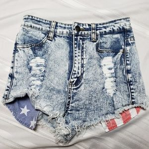 Iris Jeans High Waisted Short Shorts
